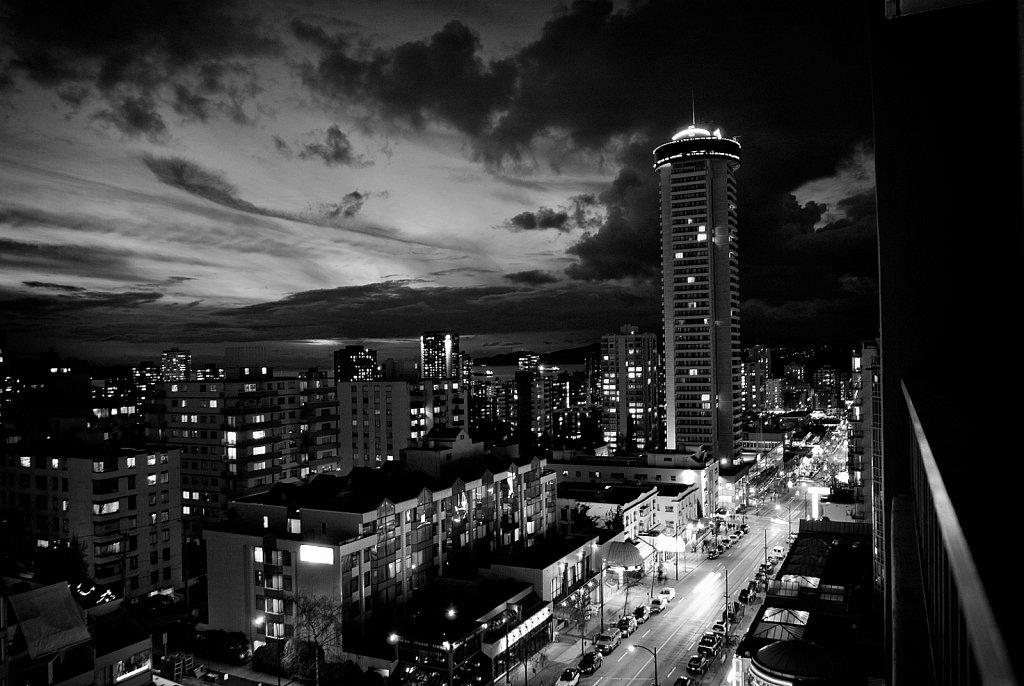 Robson St at Night